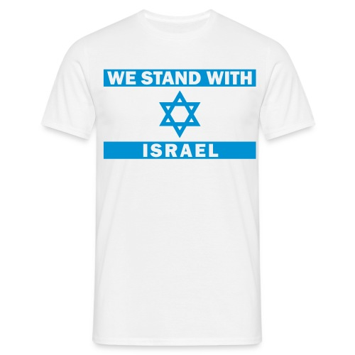 WE STAND WITH ISRAEL - Männer T-Shirt