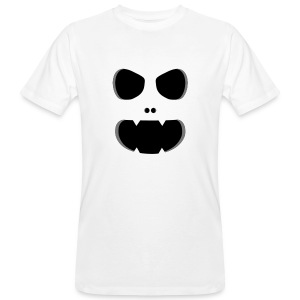 Ghost Monster Face T-paidat - Männer Bio-T-Shirt