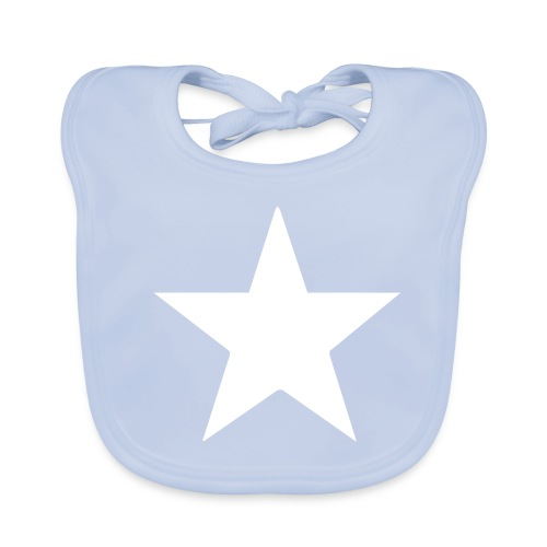 Bavoir Star bleu - Bavoir bio Bébé