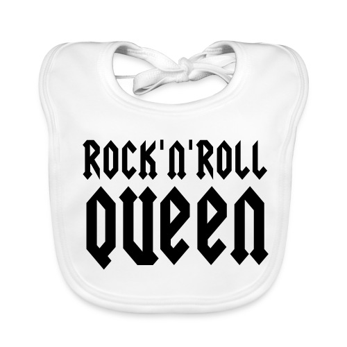 Bavoir Rock'n'roll Queen - Bavoir bio Bébé