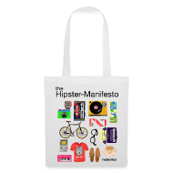 Borse & Zaini ~ Borsa di stoffa ~ HIPSTER-MANIFESTO BAG