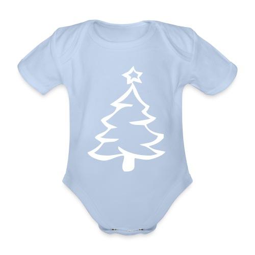 Baby Bio-Kurzarm-Body - Weihnachtsbody