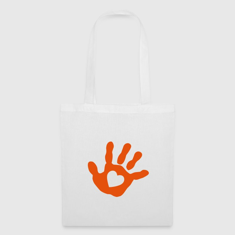 baby - hand - handprint - heart Bags  - Tote Bag