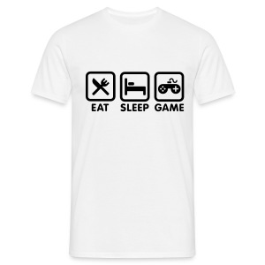 Eat Sleap Game T-Shirt Weiß - Männer T-Shirt