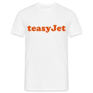 teasyjet white - Men's T-Shirt