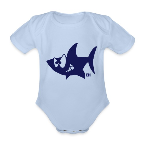 Shark - Organic Short-sleeved Baby Bodysuit