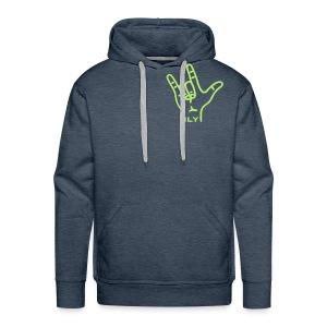 Fingerzeichen ILY - Pullover - Männer Premium Hoodie
