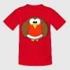 Funny Robin Redbreast Cartoon Kid's T-Shirt - Teenage T-shirt