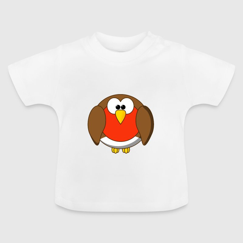 Grappig roodborstje Cartoon - Baby T-shirt