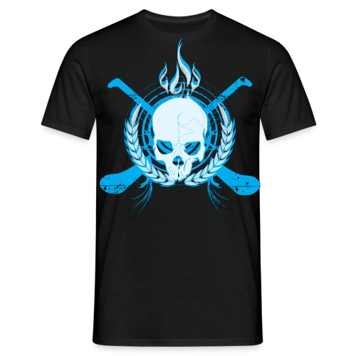 Skull & Hurleys Electric Blue - Men's T-Shirt