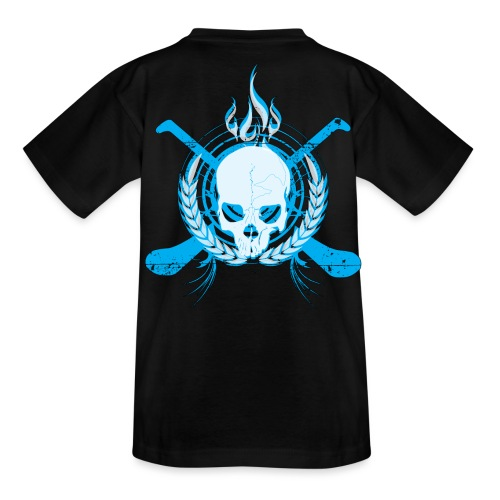 Skull & Hurleys Electric Blue - Teenage T-shirt