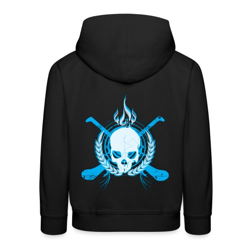Skull & Hurleys Electric Blue - Kids' Premium Hoodie