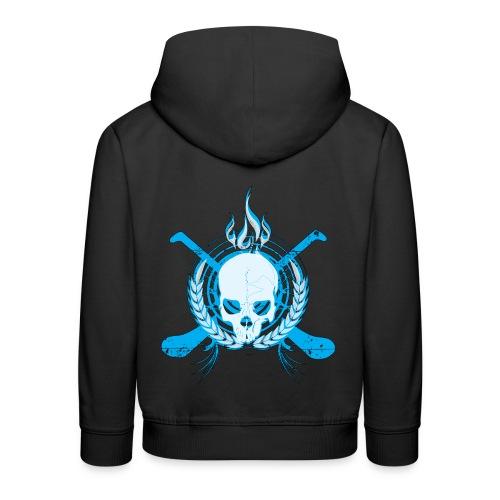 Skull & Hurleys Electric Blue - Kids' Premium Hoodie