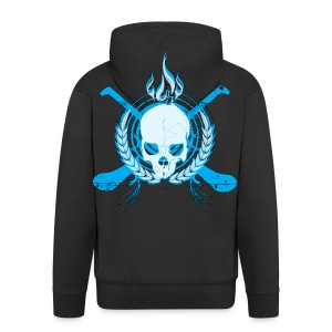 Skull & Hurleys Electric Blue - Men's Premium Hooded Jacket