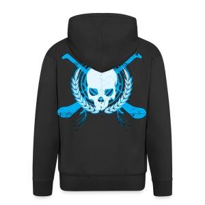 Skull & Hurleys Electric Blue - Men's Premium Hooded Jacket