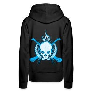 Skull & Hurleys Electric Blue - Women's Premium Hoodie