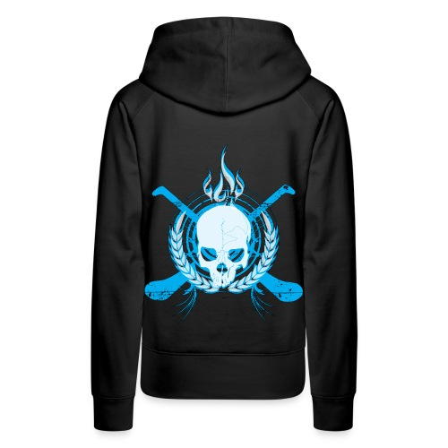 Skull & Hurleys Electric Blue - Women's Premium Hoodie