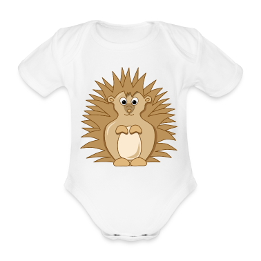 Cute Little Cartoon Hedgehog Babygrow One-Piece