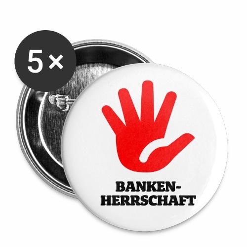 Stop Bankenherrschaft - Buttons mittel 32 mm