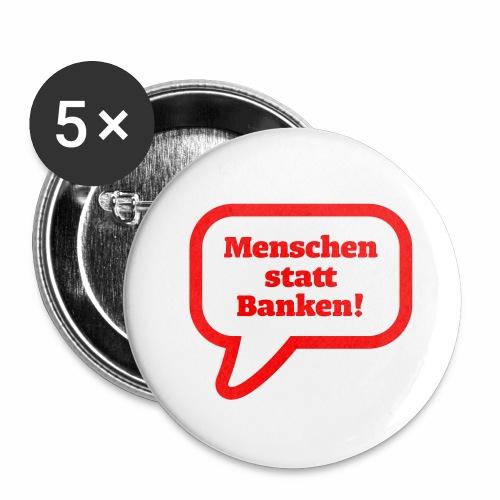 Menschen statt Banken - Buttons mittel 32 mm
