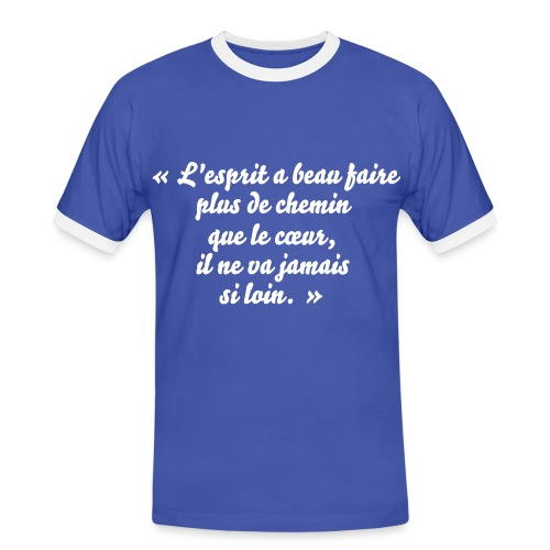 TShirt homme proverbe chinois - T-shirt contrasté Homme