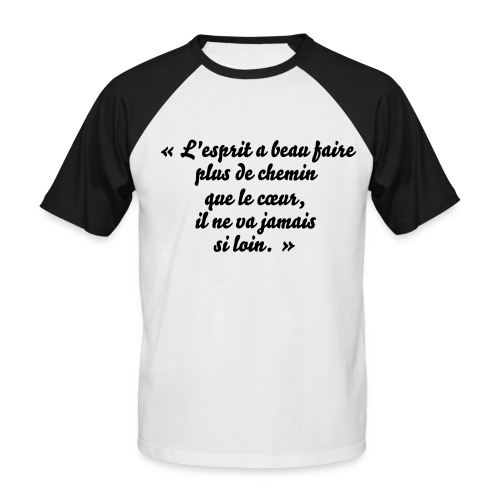 TShirt homme proverbe chinois - T-shirt baseball manches courtes Homme