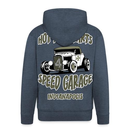 hot rods parts sweatshirt - Men's Premium Hooded Jacket