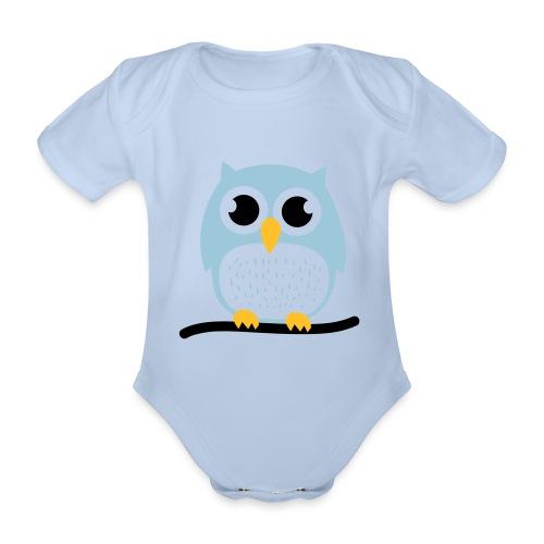 hibou bb - Organic Short-sleeved Baby Bodysuit