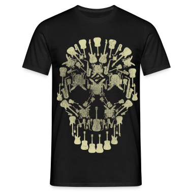 Musical Intruments Skull Men's T-Shirt