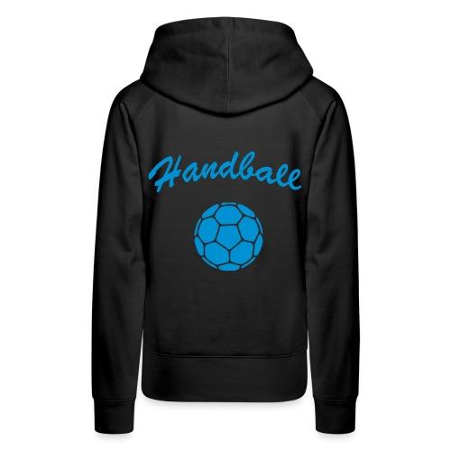 Sweat femme handball bleu - Sweat-shirt à capuche Premium pour femmes