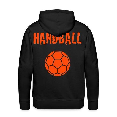 Sweat Homme Handball orange - Sweat-shirt à capuche Premium pour hommes