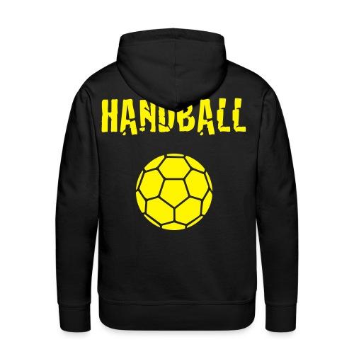 Sweat Homme Handball jaune - Sweat-shirt à capuche Premium pour hommes