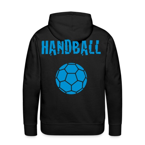 Sweat Homme Handball bleu - Sweat-shirt à capuche Premium pour hommes