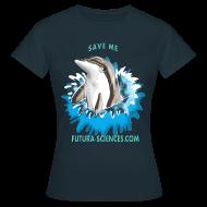 Tee shirts ~ Tee shirt Femme ~ Save dauphin femme noir