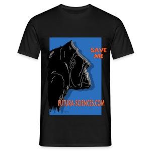 Save Gorille homme noir - T-shirt Homme