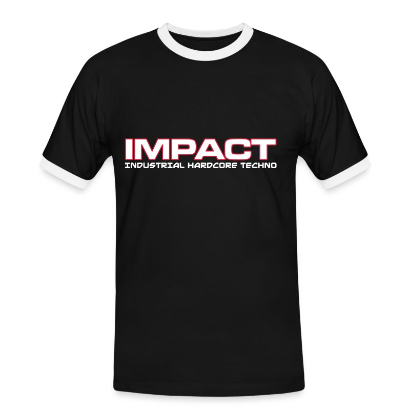 Impact Contrast Mens T-Shirt (Text on Front) - Men's Ringer Shirt