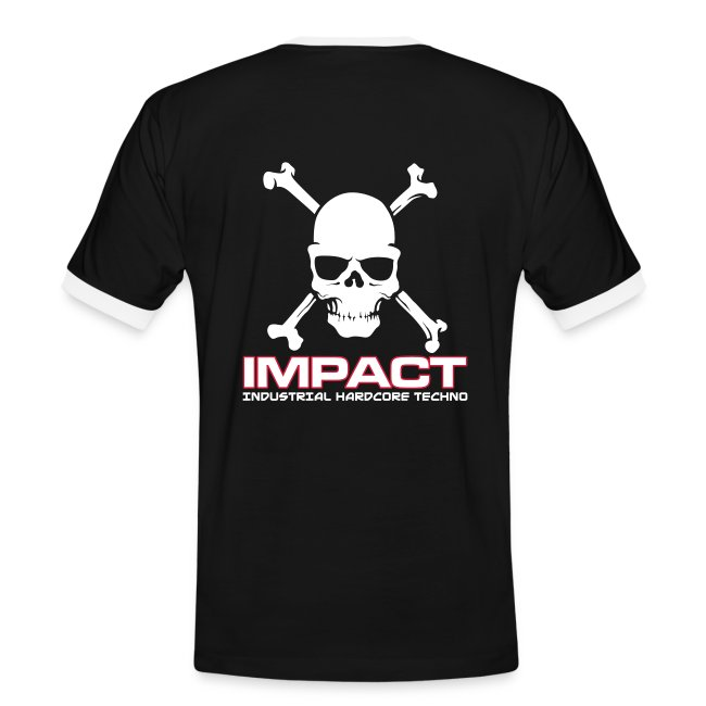 Impact Contrast Mens T-Shirt (Text on Front)