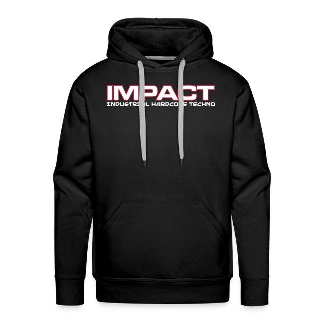 Impact Mens Hoody (Text Front / Skull Back)