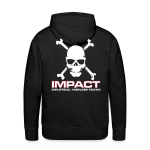 Impact Mens Hoody (Text Front / Skull Back) - Men's Premium Hoodie