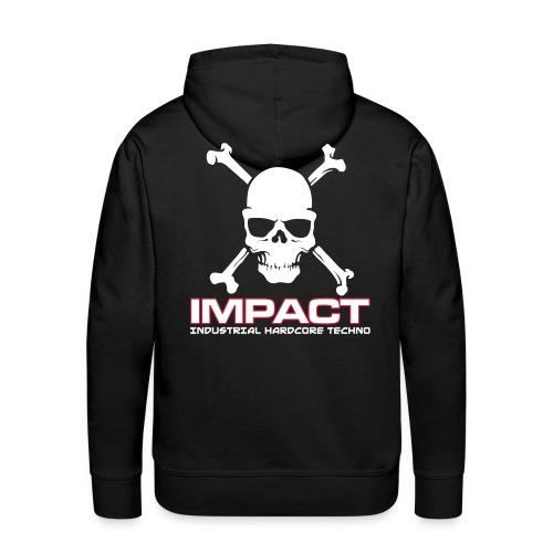 Impact Mens Hoody (Text Front / Skull Back) - Men's Premium Hoodie