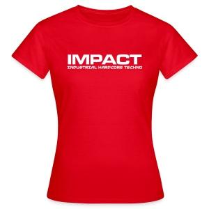 Impact Women's Classic Tshirt (Text Front) RED - Women's T-Shirt