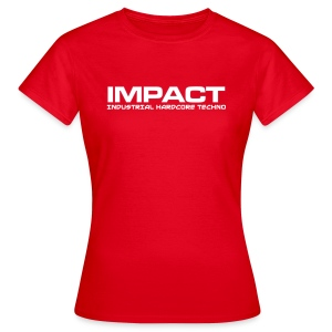 Impact Women's Classic Tshirt (Text Front) RED - Women's T-Shirt