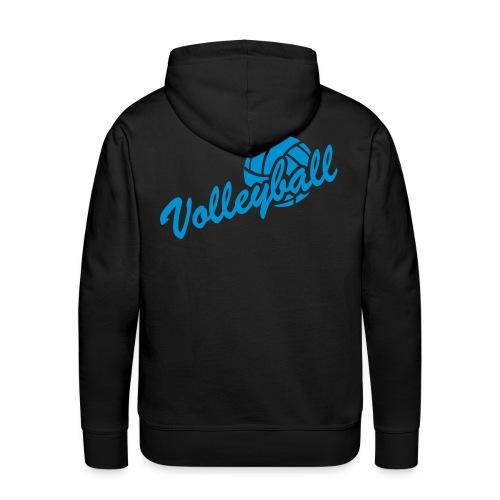 Sweat Homme Volley_1 Bleu - Sweat-shirt à capuche Premium pour hommes
