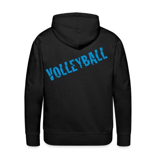 Sweat Homme Volley_2 Bleu - Sweat-shirt à capuche Premium pour hommes