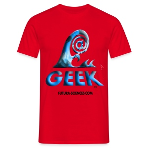 Geekwave homme rouge-bleu - T-shirt Homme