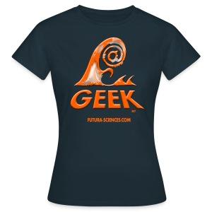 Geekwave femme marine-orange - T-shirt Femme