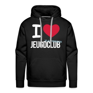 I Love Jeugdclub Hoodie Man Zwart - Mannen Premium hoodie