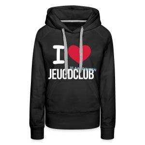 I Love Jeugdclub Hoodie Vrouw Zwart - Vrouwen Premium hoodie