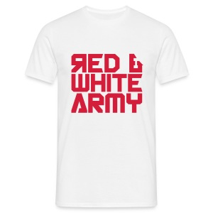 Red & White Army white - Men's T-Shirt