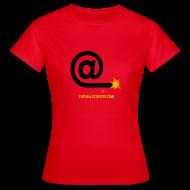 Tee shirts ~ Tee shirt Femme ~ Arobase étincelle femme rouge